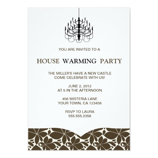 Chandelier Housewarming Invitations
