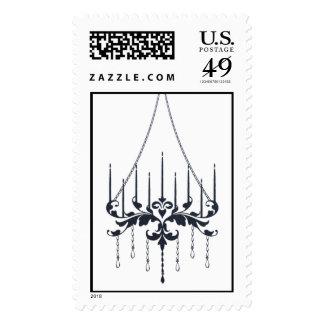 Chandelier - Lapis (Negative) Postage Stamp