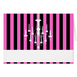 Chandelier NoteCards-Wht Card