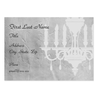 Chandelier on creased Gray Paper Large Business Cards (Pack Of 100)