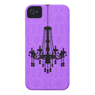 Chandelier on Purple Damask Blackberry Case