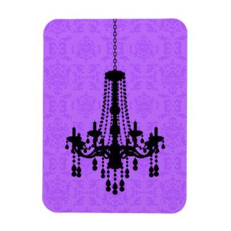 Chandelier on Purple Damask Magnet