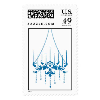 Chandelier - Peacock (Negative) Postage Stamps