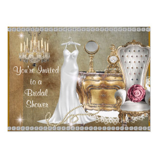 CHANDELIER & PEARLS BRIDAL SHOWER INVITATION