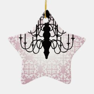 chandelier/pink ceramic ornament