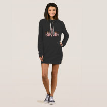 Chandelier Pink - Hoodie Dress