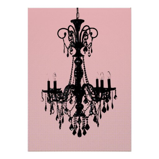 Chandelier & Pink Posters
