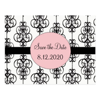 Chandelier Pink Save the Date Wedding Cards