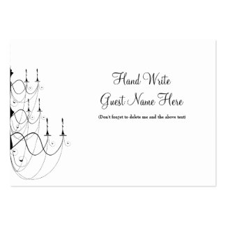 Chandelier - Place Cards Business Cards