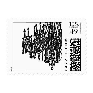 Chandelier Postage in Simple Stunning Black