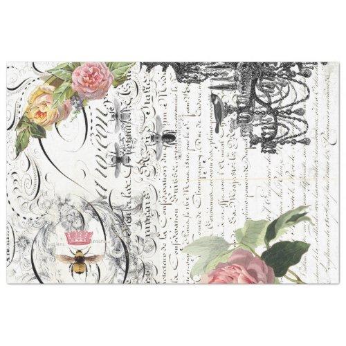Chandelier Queen Bee Decoupage Sheet