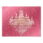 "Chandelier,  reception cards 4.25"" x 5.5"" invitation card"