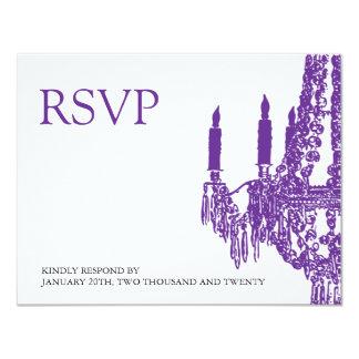 "Chandelier RSVP Cards 4.25"" X 5.5"" Invitation Card"
