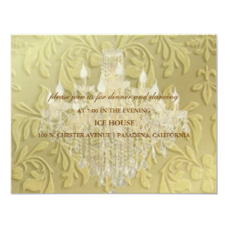 """Chandelier,  RSVP or reception cards- customizable 4.25"""" X 5.5"""" Invitation Card"""