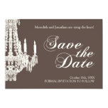 Chandelier Save the Date Invitation