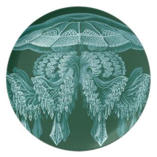 Chandelier Sea Creature Melamine Plate