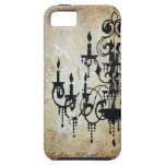 Chandelier Silhouette Artwork iPhone 5 Cover