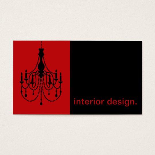 Interior Design Business Cards chandelier silhouette icon - interior design business card | zazzle