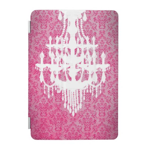 Chandelier Silhouette & Pink Damask iPad Mini Cover