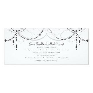 "Chandelier Tea Length Wedding Invitation 4"" X 9.25"" Invitation Card"