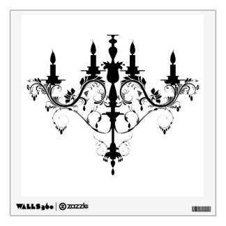 chandelier vintage french decorative wall decal