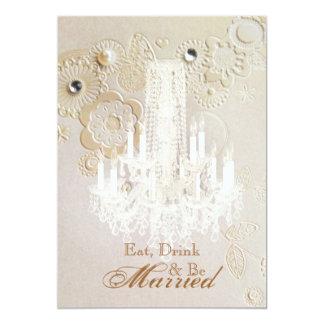 chandelier vintage wedding rehearsal dinner personalized invitations