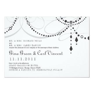 "Chandelier Wedding Invitation 5"" X 7"" Invitation Card"