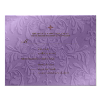"""Chandelier ~ Wedding Reply ~ RSVP cards 4.25"""" X 5.5"""" Invitation Card"""