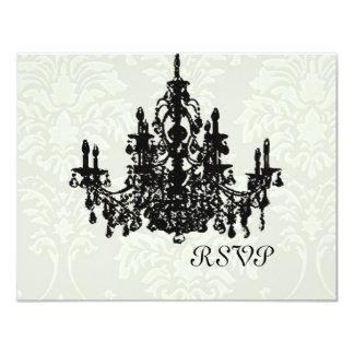 """Chandelier Wedding RSVP requires 5x7 invite 4.25"""" X 5.5"""" Invitation Card"""