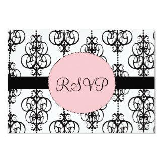 "Chandelier Wedding RSVP Response Cards 3.5"" X 5"" Invitation Card"