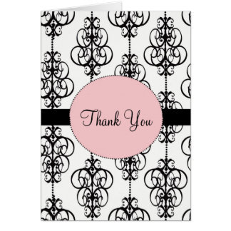 Chandelier Wedding Thank You Cards