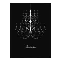 Chandelier White - Wedding Invitation