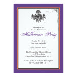 Chandelier with Cob Web Halloween Party 5x7 Paper Invitation Card