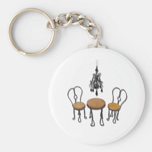 ChandelierBistroSetting121611 Keychain