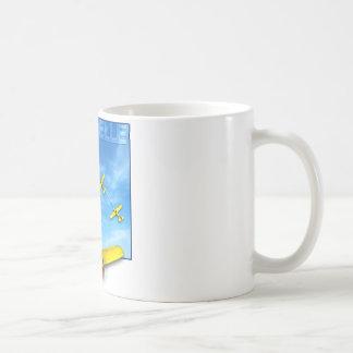Chandelle Aerobatic maneuver with Airplane Classic White Coffee Mug