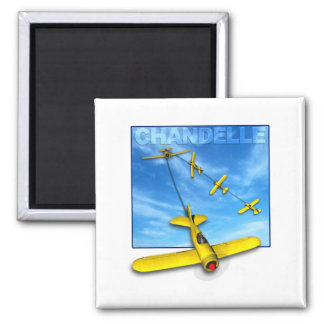 Chandelle Aerobatic maneuver with Airplane Magnet