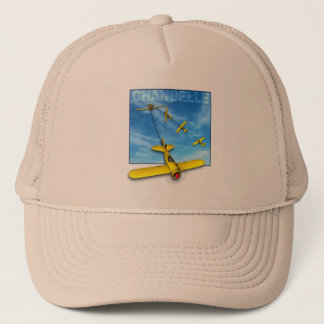 Chandelle Aerobatic maneuver with Airplane Trucker Hat