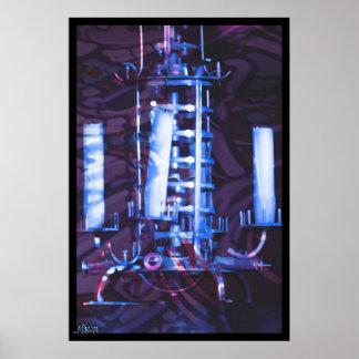 CHandellier Blue Poster