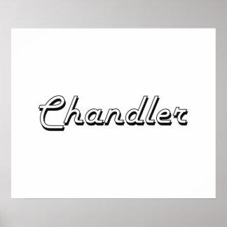 Chandler Arizona Classic Retro Design Poster