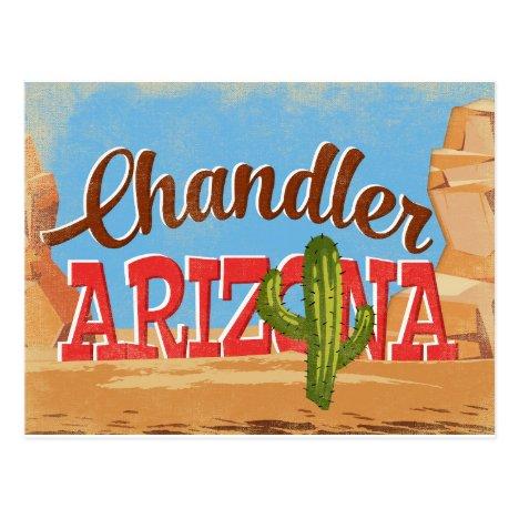 Chandler Arizona Vintage Travel Postcard