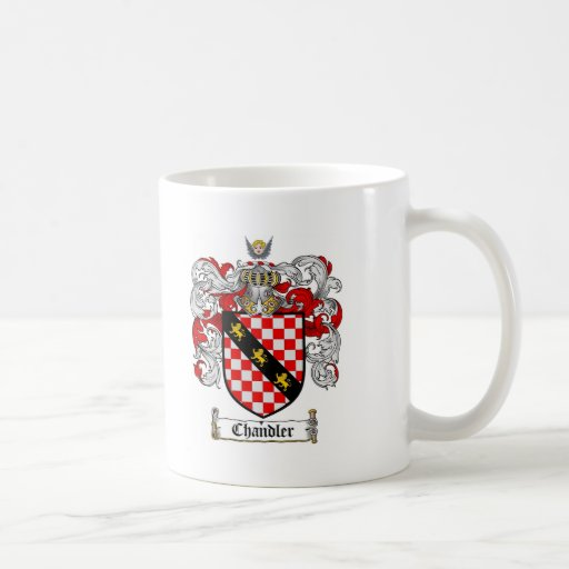 CHANDLER FAMILY CREST -  CHANDLER COAT OF ARMS CLASSIC WHITE COFFEE MUG