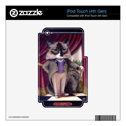Chandler Le Chat Decals For iPod Touch 4G