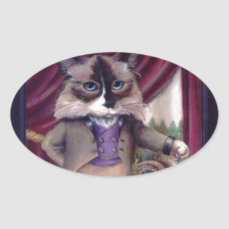 Chandler Le Chat Oval Sticker