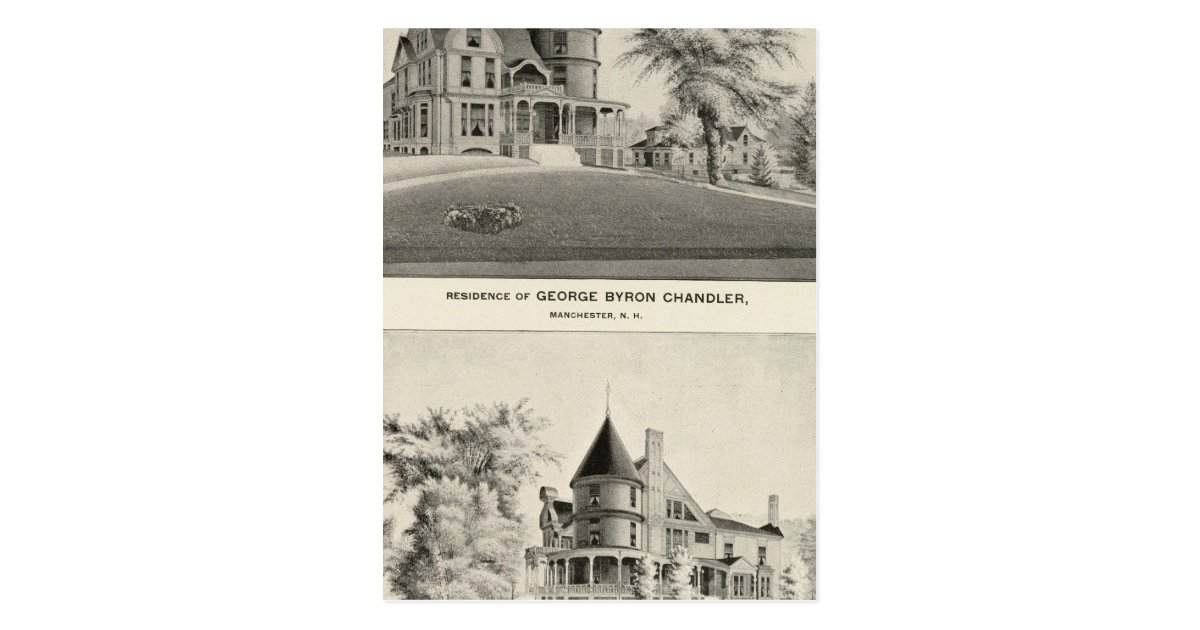 Chandler residence manchester nh postcard zazzle for Craft stores manchester nh