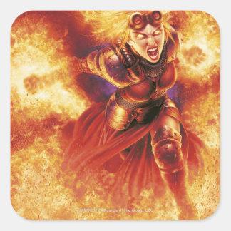 Chandra Ablaze Square Sticker
