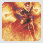 Chandra Ablaze Square Stickers