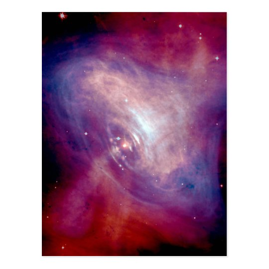 Chandra Crab Nebula NASA Postcard