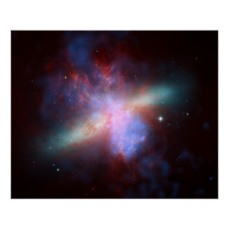 Chandra Hubble Spitzer X-ray Visible Infrared Poster