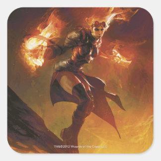 Chandra the Firebrand Square Sticker