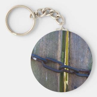 Chaned wood Keychain
